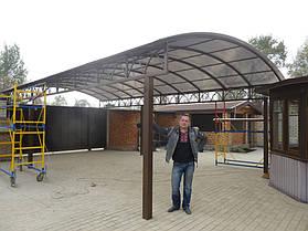 1200 грн.\кв.м. Навес металлический прозрачный (поликарбонат) 2