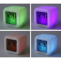 Часы куб с подсветкой, будильником, календарём, термометром Light BOX