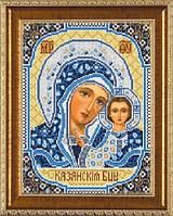 Богородица Казанская.Схема на ткани для вышивания бисером