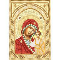 Богородица Казанская. Марічка. Схема на ткани для вышивания бисером