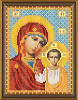 Богородица Казанская. Схема на ткани для вышивания бисером