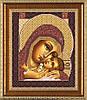 Богородица Корсунская. Схема на ткани для вышивания бисером