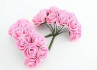 Букет розовых розочек из латекса 1,5 см