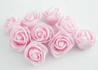 Голова розовых роз из латекса