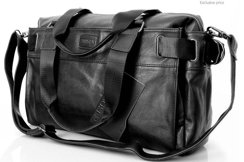 bdf7deb7709e Мужская кожаная спортивная сумка ZUOSEN. Модель 04181 - Интернет-магазин