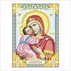 """Икона ''Богородица Владимирская"""" . Схема на ткани для вышивания бисером"""