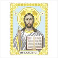 """Икона ''Господь Вседержитель"""" . Схема на ткани для вышивания бисером"""