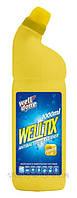 Антибактериальный очиститель Welltix для туалета с ароматом лимона 1л
