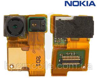 Шлейф для Nokia Lumia 900, подсветки дисплея, с камерой, с компонентами, оригинал
