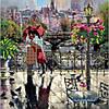 Объятия Парижа. Абрис Арт. Схема на ткани для вышивания бисером