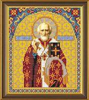 Рисунок на ткани для вышивания бисером Св. Николай Чудотворец