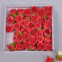 Розочка из вспененного латекса с наклейкой красная
