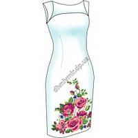 Розы. Диана Плюс. Схема + выкройка для вышивания женской сорочки