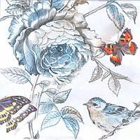 """Салфетки для декупажа """"Бабочки и розы"""""""