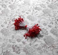 Перламутровые тычинки, цвет красный