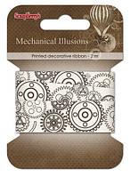 Стрічка декоративна Механічні ілюзії, 20мм, 2м, бавовна