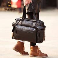 Мужская кожаная сумка спортивного стиля. Модель 04182, фото 6