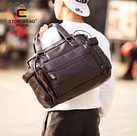 Мужская кожаная сумка спортивного стиля. Модель 04182, фото 7
