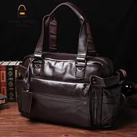 Мужская кожаная сумка спортивного стиля. Модель 04182, фото 4