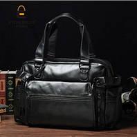 Мужская кожаная сумка спортивного стиля. Модель 04182, фото 5