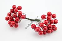 Ягода декоративная, соцветие 40 ягод, лаковая