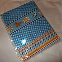 Простынь в детскую кроватку «Бабочки синие»