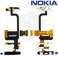 Шлейф для Nokia C6-00, межплатный, с камерой, с компонентами, с клавитурным модулем, оригинал