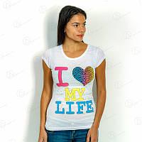 Футболка женская 17F-024white футболки с надписями недорого интернет магазин