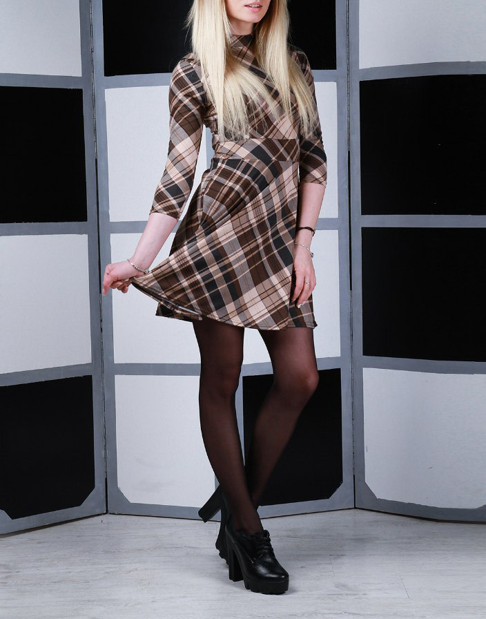 """Трикотажное платье на каждый день """"Варшава"""", размер S, M, L"""