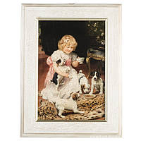 "CH20/5Wh Картина ""Дівчина з цуценятами"" 29х38 см, арт. GS-ch20-5w"