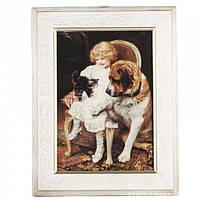 "CH22/5Wh Картина ""Дівчина з кошеням"" 28х38 см, арт. GS-ch22-5w"