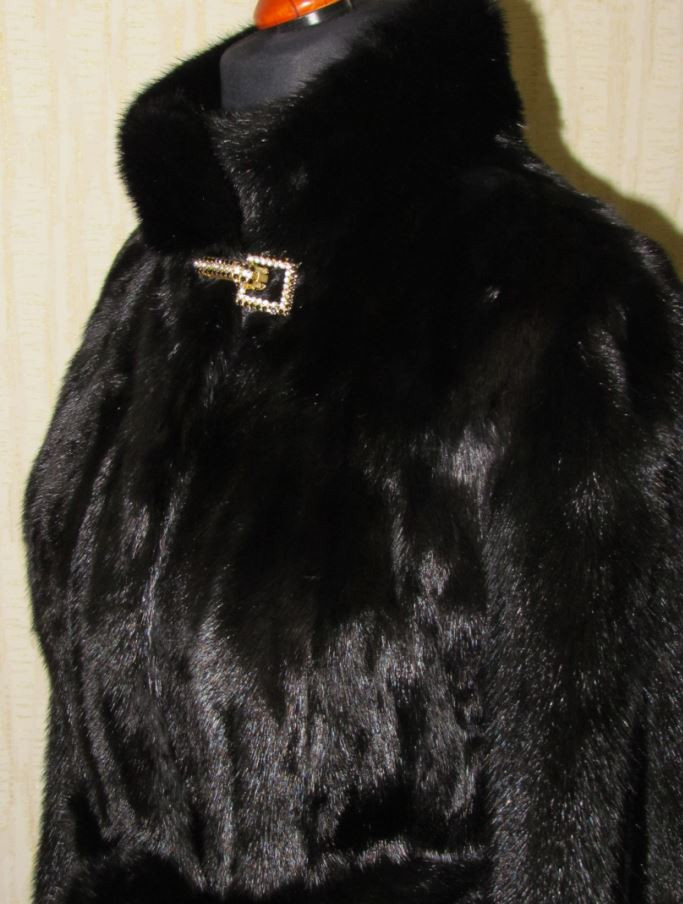 Норковая шуба Black Brillian