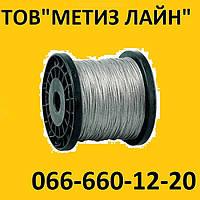 Трос d-6 стальной  в оплетке ПВХ DIN 3055, 100 пог.м