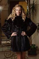 Шуба полушубок из норки (Дания) рукава съемные  Convertible mink fur coat vest with detachable sleeves, фото 1