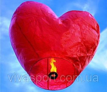 Летающие небесные фонарики в форме сердца, фонарик 2D Сердце