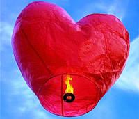Летающие небесные фонарики в форме сердца, фонарик 2D Сердце, фото 1