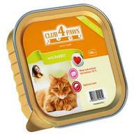 Нежный паштет с кроликом для котов, Клуб 4 лапы, 100 гр