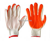 Перчатки садовые стрейч, с напылением нитрила, женские, оранж