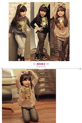 """Комплект для девочки """"Тигр"""", лосины с кофтой., фото 2"""