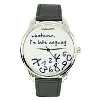 Часы ANDYWATCH наручные мужские I am late white