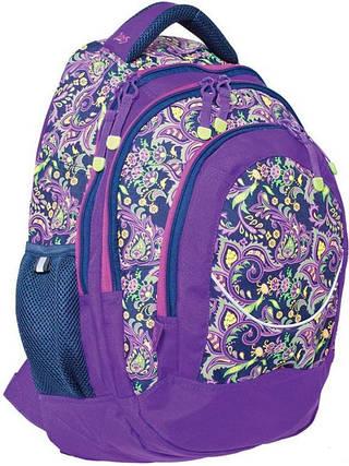 """Яркий подростковый рюкзак 23 л. Т-14 """"Roxy"""" YES! 552660 фиолетовый"""