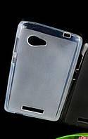 Защитный гелевый бампер накладка для Lenovo A880, белый цвет