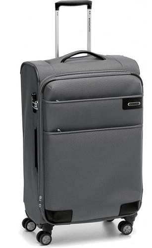 Тканевый чемодан-гигант 4-х колесный 123/132 л. Roncato Uno Soft Deluxe 404671/22 антрацит