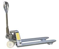 Гидравлические тележки из нержавеющей стали для паллет Skiper SKS251150, г/п 2500 кг, вилы 1150/550