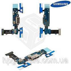 Шлейф для Samsung Galaxy S5 G900H, коннектора зарядки, с компонентами, оригинал