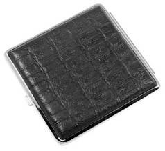 Модный портсигар под крокодила Alkazar 340032-3094 черный