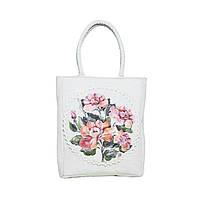 Эксклюзивная дизайнерская сумка ТМ Прованс Персиковая Роза 30х35 см