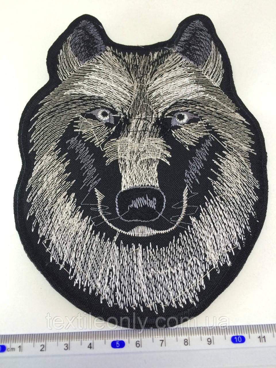 Нашивка волк ( big) цвет черно-белый
