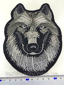 Нашивка вовк ( big) колір чорно-білий