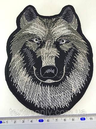 Нашивка волк ( big) цвет черно-белый, фото 2